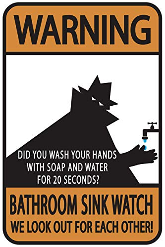 BIT SITNG Reloj de lavabo de baño Did You Wash Your Hands? Retro Wall Art Vintage Metal Tin Sign Decoración de pared Poster Hombre maduro Living prompt placa nueva de aluminio 8 x 12 pulgadas