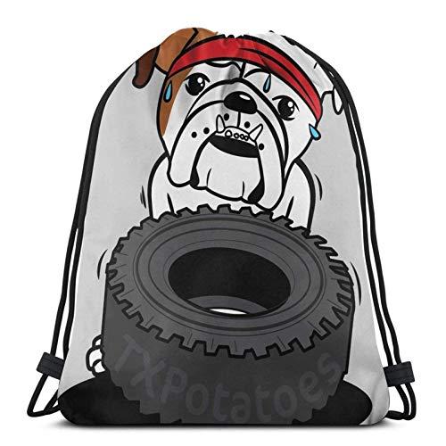 Reifen Bulldogge nie! Sporttasche Gym Sack Kordelzug Rucksack für Gym Shopping