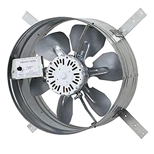 Iliving ILG8G14-12T Gable Fan, 3.10 Amp, Steel