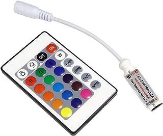 QIACHIP LED DC 12 V RGB con regulador de control remoto inalámbrico RF de 24 teclas para 5050 3528 5630