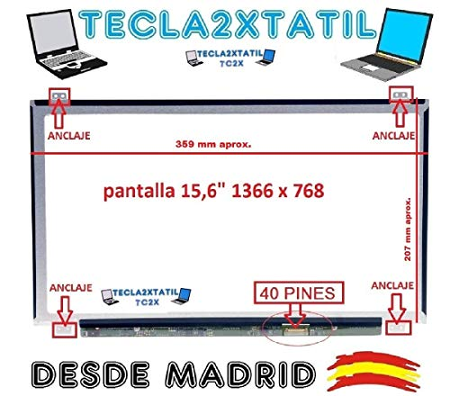 TECLA2XTATIL TC2X Pantalla Compatible DE Y para PORTATIL LTN156AT35-H01 15,6
