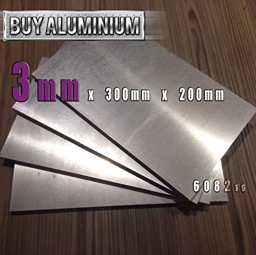 Placa/lámina de aluminio de 3 mm, 6082 t6, 300mm x 200mm