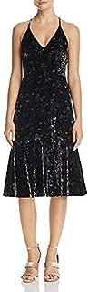 Midnight Floral Velvet Slip Dress