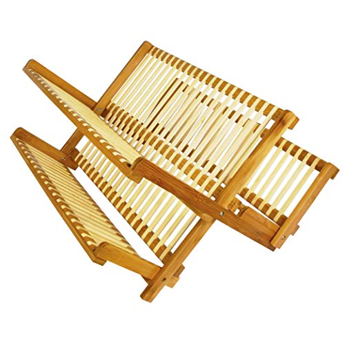 Better Chef 19 Inch All Natural Eco-Friendly Bamboo Dish Rack