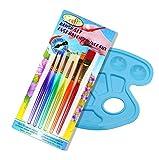 Insun 6 Assorted Wasserfarben Wasserpinsel Aquarellfarben Pinsel Set Haarbürsten Art Nylon Künstler Malerei Pinsel Set Bunt Kurze Griff -