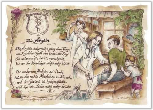 Die Staffelei Geschenk Ärztin Arzt Doktor Zeichnung Color 30 x 21 cm