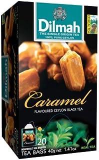 Dilmah Fun Tea, Caramel, Single Origin Pure Ceylon, 20 Count Individually foil enveloped tea bags, (Pack of 4) by N/A
