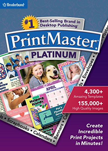 PrintMaster v7 Platinum for Mac: Design Software For Making Personalized Print Projects (Cards, Flyers, Posters, Scrapbooks) [Download]