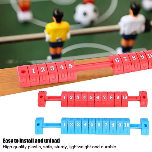 Tischfußballzähler, 2 Teile/Satz 10 Tischfußball Zahlen Wertung Zähler Anzeige Fußball Kicker Billard Einheit Anzeiger für Standardtische(rot und Blau)