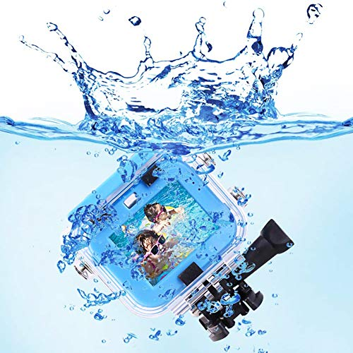 Kids Action Camera, 12MP 1080P HD Waterproof Video Digital Sports Camera with 32G SD Card for Boys Girls, Perfect for Swimming, Travel, Cycling, Outings, Diving, Surfing