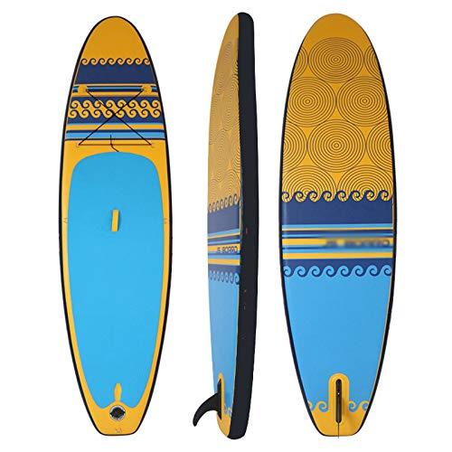 Tabla De Paddle Surf Inflable Tabla De Sup Tabla De Surf Sup Capa Fuerte PVC 335 * 82 * 15Cm con Cuerda De Almacenamiento Elástica, Bomba De Alta Presión, Cuerda De Pie