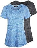 iClosam Camiseta para Mujer Yoga Deportiva Colores Lisos Fitness Transpirable Sueltos...