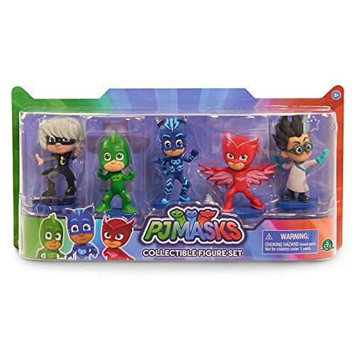 Giochi Preziosi - Super Pigiamini PJ Masks Set 5 Personaggi, Modeli Assortiti