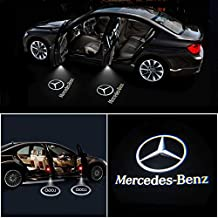 IHEX Auto 4pcs for Mercedes Benz Wireless Car Door Led Welcome Laser Projector Logo Light Ghost Shadow Light Lamp Logos