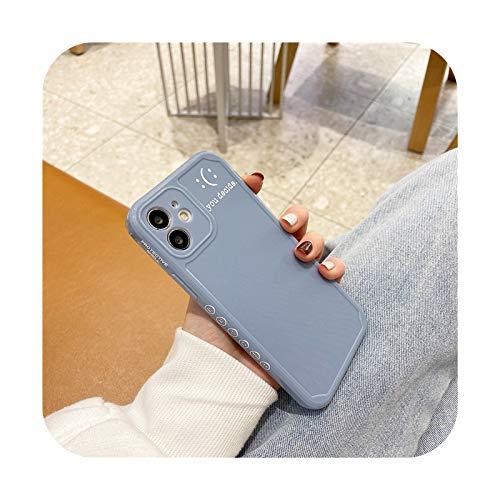 Linda letra simple sonrisa coreana teléfono caso para iPhone 12 11 Pro Max Xr X X Max 7 8 Puls SE 2020 Carcasas lindo suave silicona cubierta A-para iPhone SE 2020