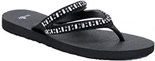 Sanuk Women's Selene Crystal Flip-Flop