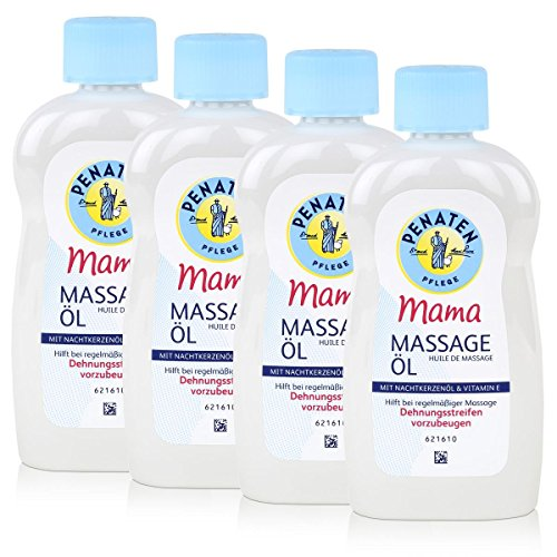 4x Penaten Pflege Mama Massage Öl mit 100% pflanzlichem Öl 200 ml