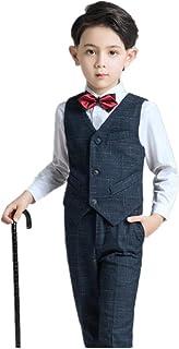 MARIAH(マリア) フォーマル スーツ キッズ ベスト ズボン シャツ 3点セット 男の子