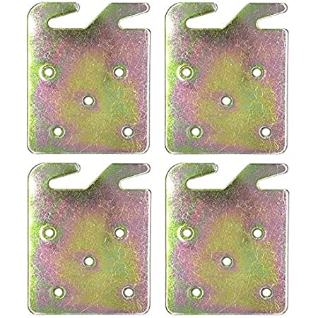 Ckbestery Wood Bed Rail Hook Plates for Wooden Bed,Wooden Headboard,Footboard Frame,Claw it On Intended Replacement Pack of 4 5 Hole Design