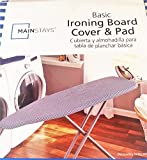 Mainstay Basic Ironing Board Cover and Pad (Fits Ironing Board Tops 15 in x 54 in) White/Blue Strips