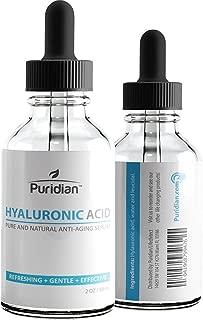 Acido Hialuronico Suero Para La Piel - 100% Puro De La Mas Alta Calidad, Suero Antienvejecimiento Para Hidratación, No graso, Fórmula Potencia Clínica De Calidad Medica 2 oz