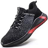 UCAYALI Zapatos de Seguridad Hombre Mujer Anti-Piercing Zapatos de Trabajo Punta de Acero Antideslizante Calzado Seguridad Deportivo Negro Gr.42