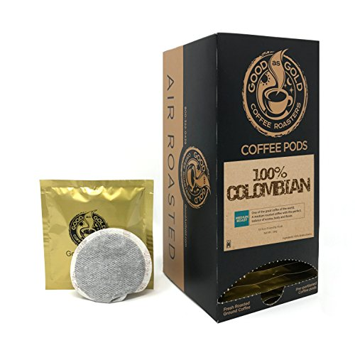 100% COLOMBIAN COFFEE PODS - Good As Gold Coffee - (1 Box / 18 Coffee Pods)