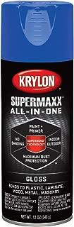 Krylon K08968007 SUPERMAXX All-In-One Spray Paint, Gloss True Blue, 12 Ounce