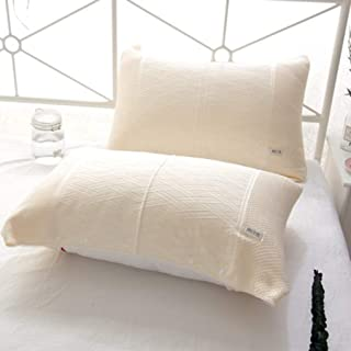 La Almohadilla de la Memoria se Puede solucionar con un frío Almohada Toalla for Ayudar a Dormir Almohada (un par) (Color : Beige)