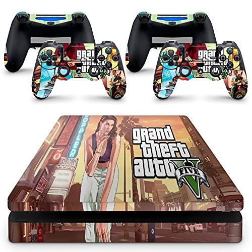 Skin Adesivo Protetor para PS4 Slim GTA V Grand Theft Auto 5 b1