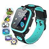 Smartwatch Niños,Reloj Inteligente para Niños de 2 Cámaras con 7 Juegos,Smart Watch con MP3 Música und Grabadora de vídeo-Pantalla Táctil en Color Relojes Inteligentes HD Deporte Reloj de 3-12 Niños