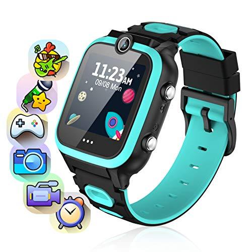 Smartwatch per bambini, con 2 telecamere, orologio per bambini con 7 giochi, calcolatrice, contapassi, touch screen, per bambini da 3 a 15 anni, idea regalo per compleanno