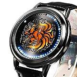 Anime Naruto Uzumaki Kurama Sasuke Sharingan Led Watch Waterproof Touch Screen Digital Light Wristwatch Cosplay Props Gift (Kurama)