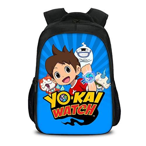 Yo-Kai Watch Equipaje Mochila de Alta Capacidad Mochila al Aire Libre Elegante Bolso Escolar Casual Bolso de Viaje Adecuado para niños y niñas Multicolor Multicolor para Mujeres y Hombres
