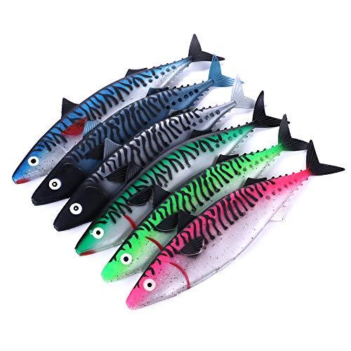 Shangu kunstaas, 29 cm, 65 g, kunststof, grote reikwijdte, voor het vissen in een volle zee, met vismateriaal, puntige haken, 6-delig