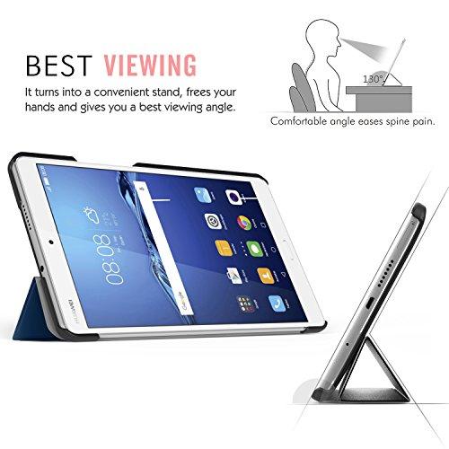 MoKo Huawei MediaPad M3 8.4 Hülle - Ultra Slim Lightweight Schutzhülle Smart Cover Standfunktion für Huawei MediaPad M3 8.4 2016 Tablet-PC perfekt geeignet, Marineblau - 4