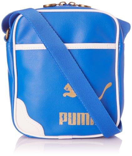 PUMA, Borsa a spalla Originals Portable PU, Blu (Victoria Blue), 19 x 21 x 6 cm (Lx A x P)