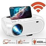 Mini proyector WiFi, proyector 2020 de 4500 Lux LED Home Film proyector...