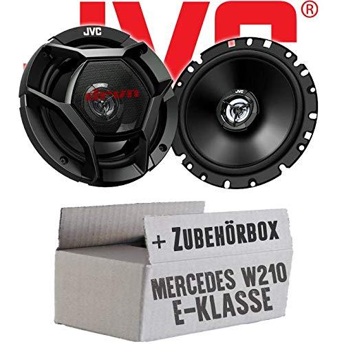 Lasse W210 Heck Ablage - JVC CS-DR1720-16cm 2-Wege Koax-Lautsprecher - Einbauset für Mercedes E-Klasse JUST SOUND best choice for caraudio