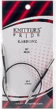 Knitter's Pride Karbonz Circular 16 inch (40cm) Knitting Needles Size US 5 (3.75mm) 110208
