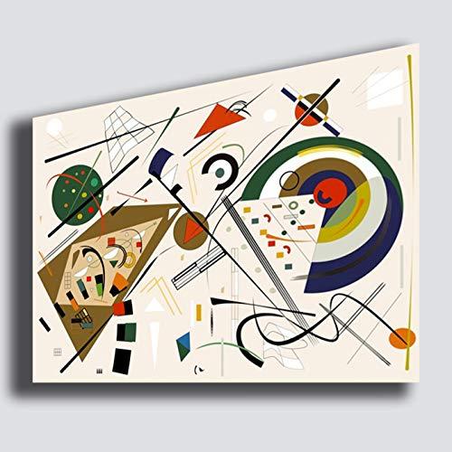 Cuadro moderno KANDINSKY estilo 50 x 70 cm Composicion - Reparacion impresion sobre lienzo lienzo gran dormitorio cuadros modernos arte abstracto cocina salon