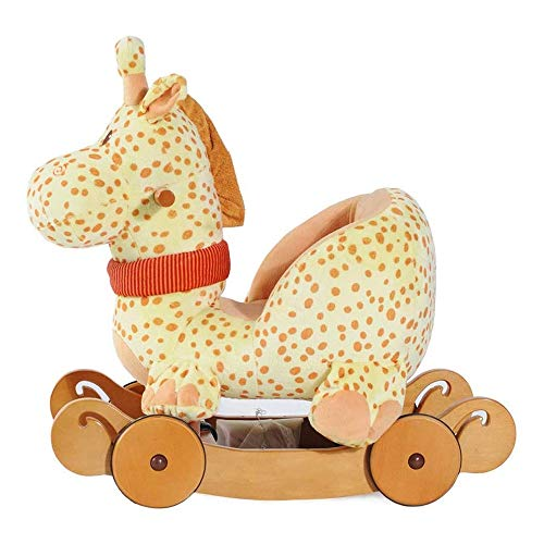 WJMLS Niño del caballo de oscilación de la felpa, Cervatillo del caballo de oscilación Relleno, 2...