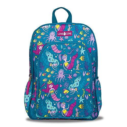 LONECONE Kids' 15' Backpack for Boys & Girls in Preschool, Kindergarten, School of Mermaids