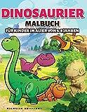 Dinosaurier Malbuch für Kinder im alter von 4-8 Jahren: 50 Bilder von Dinosauriern, die Kinder unterhalten und sie in kreative und entspannende ... um die Jurazeit zu entdecken (German Edition)