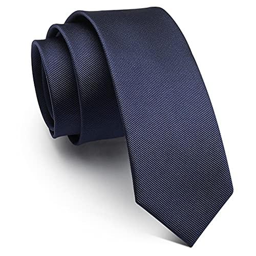 BlooMao Cravatta da uomo Cravatta da lavoro Cravatta da matrimonio 5/6/8 cm Cravatta nera