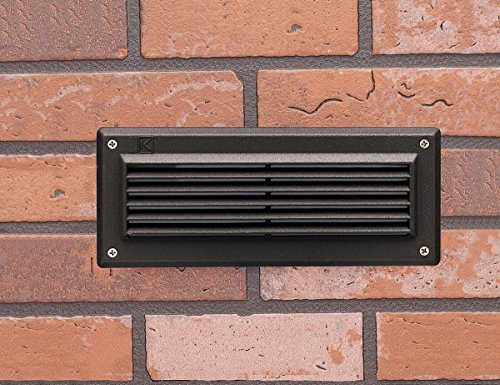 Kichler 15773AZT LED Brick Light Low Voltage Deck and Patio Light with Louvers, Textured Architectural Bronze
