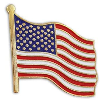 United States Waving American Flag Stars and Stripes Lapel Pin  Limited Edition