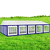AMERICAN PHOENIX Party Tent 16x32 Heavy Duty Large White Canopy Commercial Fair Shelter Wedding Events Tent (White+Blue, 16x32)