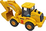 FunBlast Pull Back Friction Power Excavator Truck Toy - JCB Truck Toy with Light & Sound for 3+...