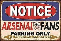 Arsenal Notice 金属板ブリキ看板警告サイン注意サイン表示パネル情報サイン金属安全サイン
